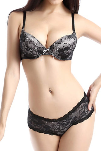 phistic Women's Convertible Bra & Hipster 2-Piece Set