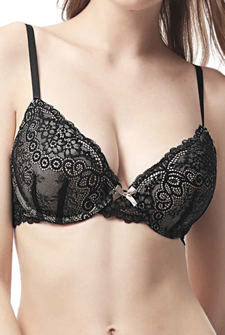 phistic Women's Lace Push Up Bra (Regular & Plus Size)