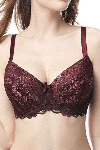 phistic Women's Full Coverage Lace Bra -Plus