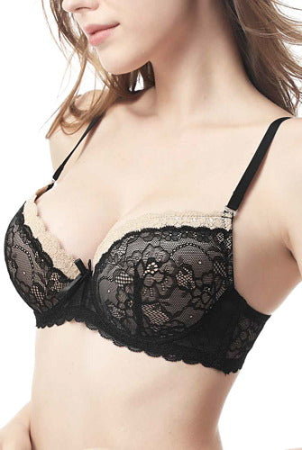 phistic Women's Lace Push Up Bra