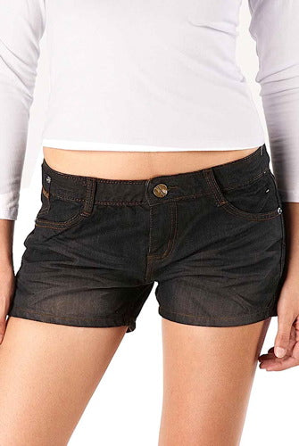Jessie G. Low Rise Distressed Denim Jean Shorts