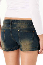 Load image into Gallery viewer, Jessie G. Low Rise Distressed Denim Jean Shorts