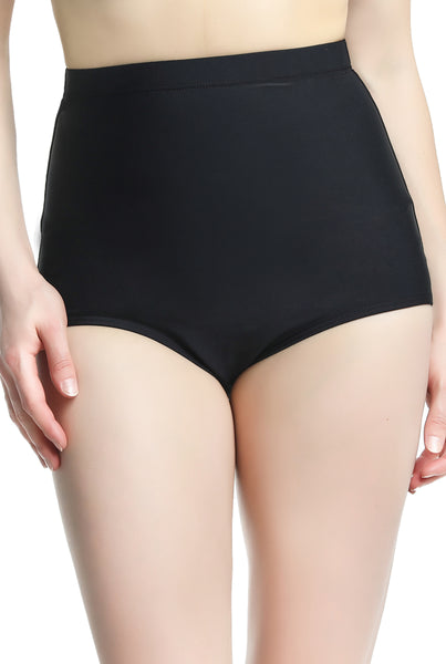 Phistic Women's UPF 50+ High Waist Tummy Control Swim Bottom