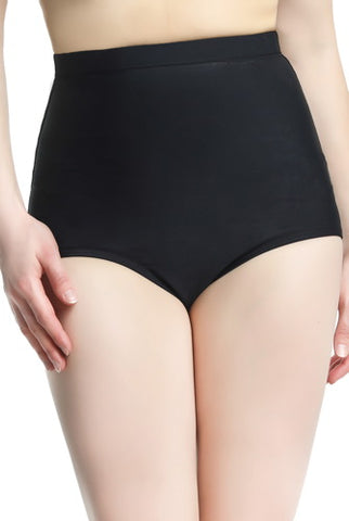 Phistic Women's UPF 50+ High Waist Tummy Control Swim Bottom- Plus
