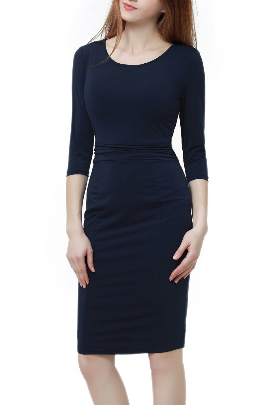 PHISTIC Women's Waist Detail Fitted Midi Dress