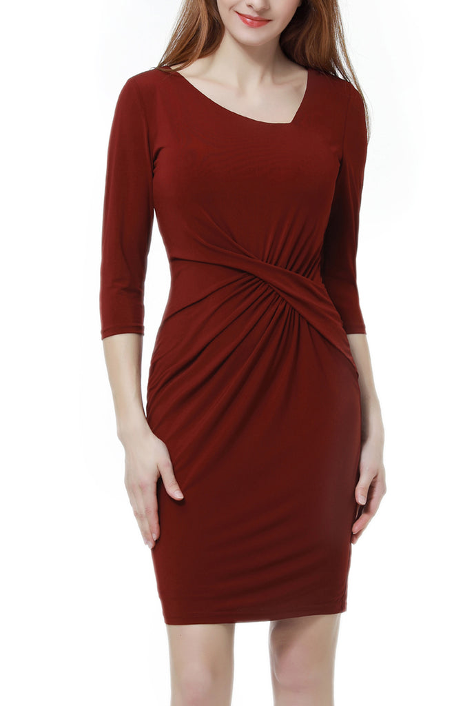 PHISTIC Women's Criss Cross Waist Sheath Dress
