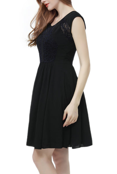 PHISTIC Women's Lace Accent Skater Dress (Plus Size)