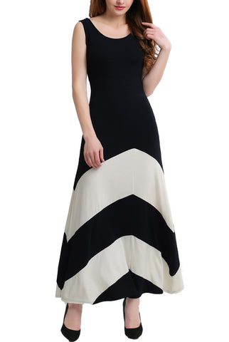 PHISTIC Women's Abstract Colorblock Maxi Dress