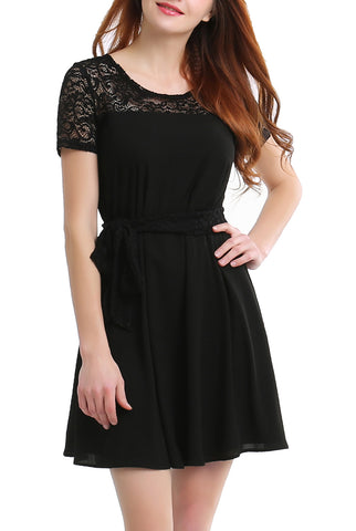 PHISTIC Women's Lace Accent Dress