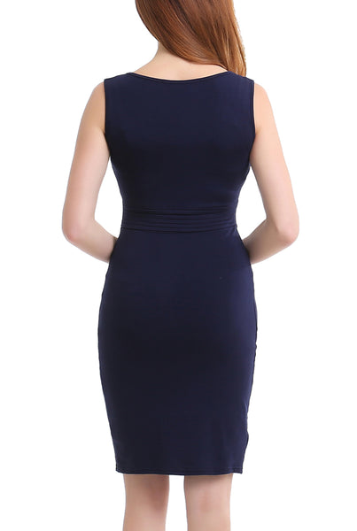 PHISTIC Women's V-Neck Midi Dress