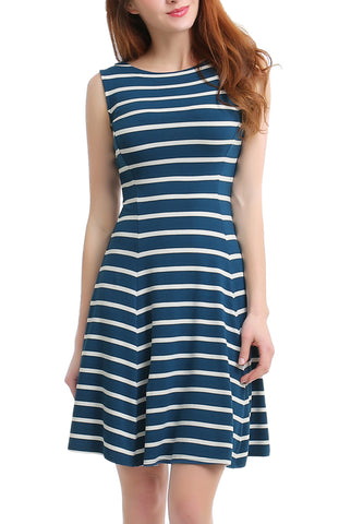 PHISTIC Women's Striped Fit & Flare Dress