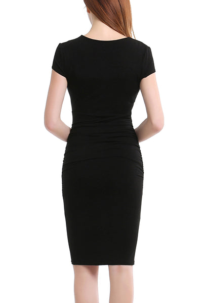 PHISTIC Women's Ruched Midi Dress