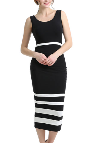 PHISTIC Women's Colorblock Bodycon Midi Dress