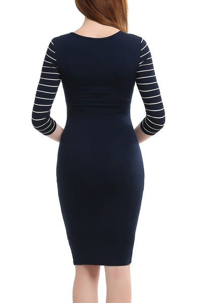 PHISTIC Women's Striped Colorblock Bodycon Dress