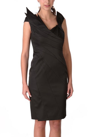 PHISTIC Women's Embossed Print Satin Sheath Dress