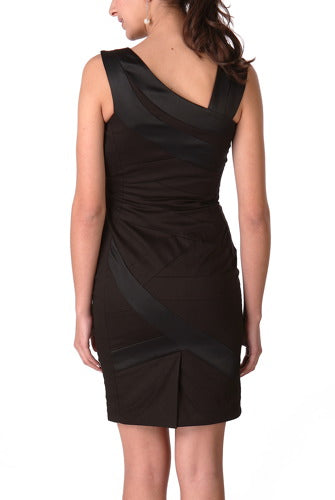 PHISTIC Women's Asymmetrical Sheath Dress