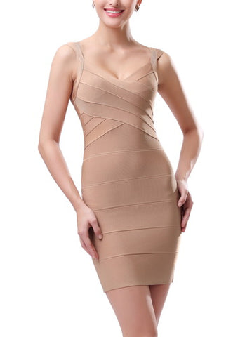 PHISTIC Women's Cross-Bust Bandage Dress