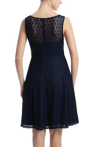 PHISTIC Women's Fit & Flare Lace Dress