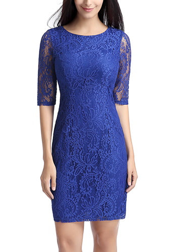 PHISTIC Women's Lace Overlay Sheath Dress