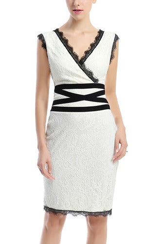 PHISTIC Women's Lace Sheath Dress
