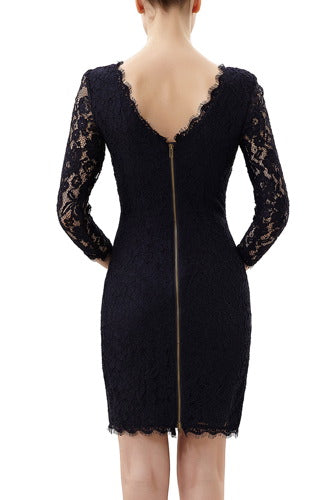 PHISTIC Women's 3/4 Sleeve Lace Sheath Dress