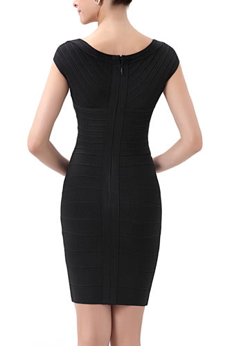PHISTIC Women's Cap Sleeve Crisscross Bandage Dress