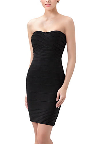 PHISTIC Women's Strapless Tube Bandage Dress