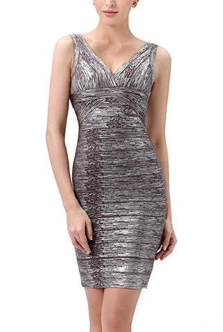 PHISTIC Women's Shimmer Bodycon Bandage Dress