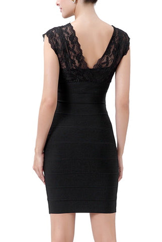 PHISTIC Women's Lace Bodycon Bandage Dress