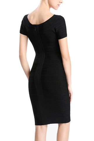 PHISTIC Women's Boatneck Bandage Dress