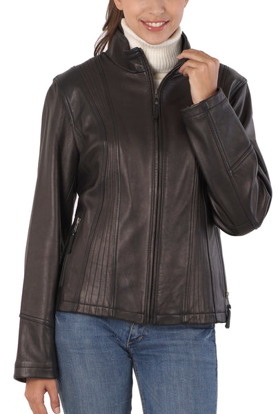bgsd womens new zealand lambskin leather scuba jacket 1