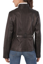 Load image into Gallery viewer, bgsd womens new zealand lambskin leather scuba jacket 1