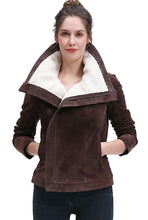 Load image into Gallery viewer, BGSD Women's Suede Leather Jacket - Plus Short