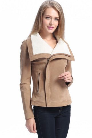 "BGSD Women's ""Callie"" Sherpa Suede Leather Jacket"