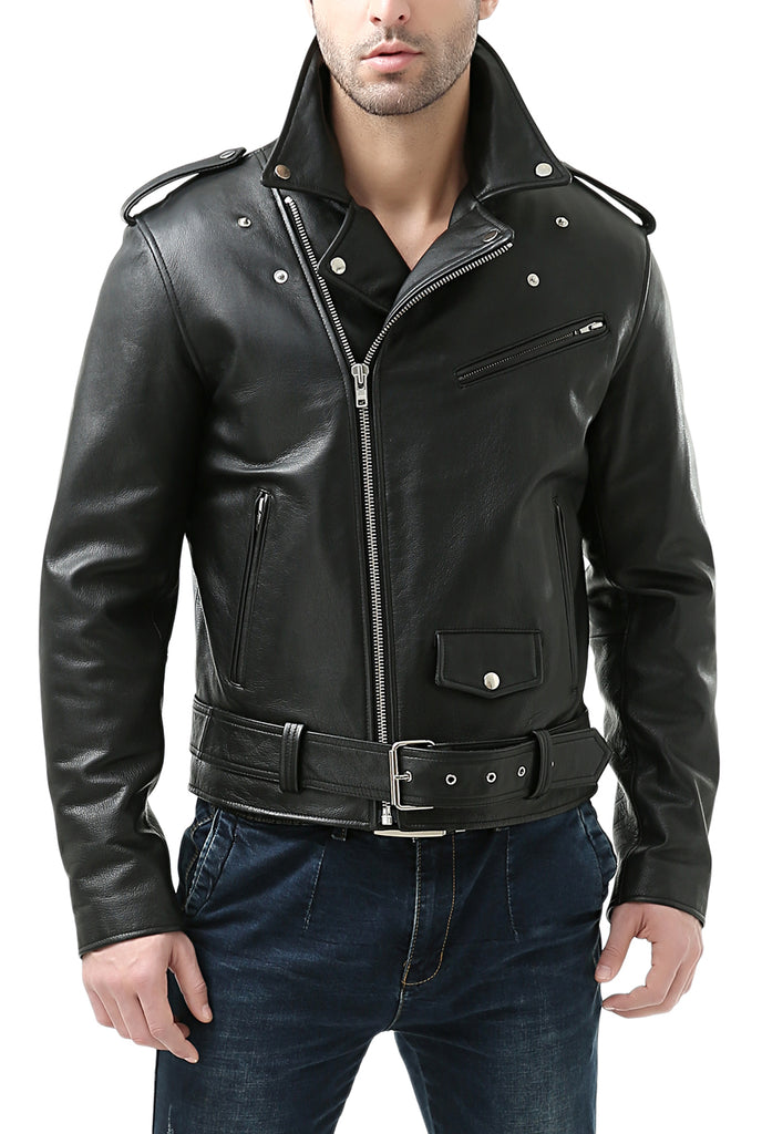 motorcycle classic jacket leather tall cowhide bgsd mens
