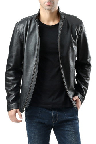 BGSD Men's Urban Motorcycle Leather Jacket