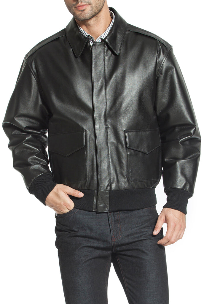 e4f42171a Landing Leathers Men's Air Force A2 Leather Flight Bomber Jacket (A-2) -  Big & Tall