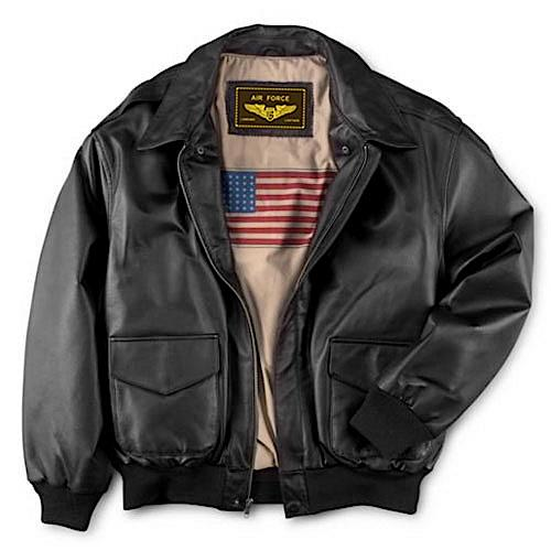 Landing Leathers Men's Air Force A2 Leather Flight Bomber Jacket (A-2) - Big & Tall Long