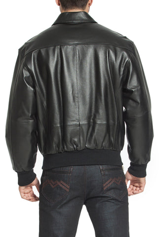 Landing Leathers Men's Air Force A2 Leather Flight Bomber Jacket (A-2) - Big & Tall
