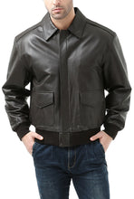 Load image into Gallery viewer, Landing Leathers Men's Air Force A2 Leather Flight Bomber Jacket (A-2) - Tall