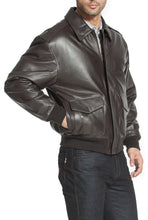 Load image into Gallery viewer, Landing Leathers Men's Air Force A2 Leather Flight Bomber Jacket (A-2)