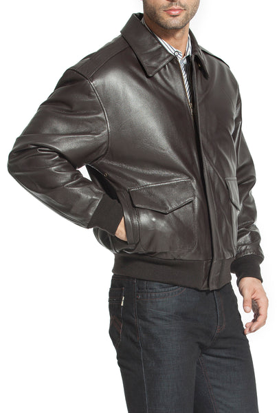 Landing Leathers Men's Air Force A2 Leather Flight Bomber Jacket (A-2)