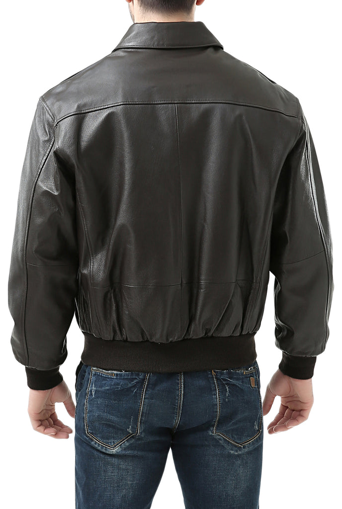 08cc1100b17 Landing Leathers Men's Air Force A2 Leather Flight Bomber Jacket (A-2)