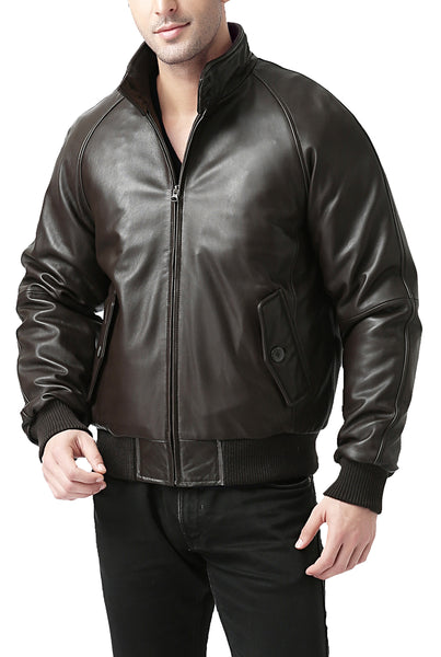 Landing Leathers Men's WWII New Zealand Lambskin Leather Bomber Jacket - Big