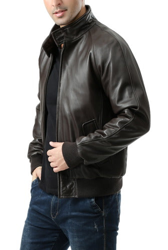Landing Leathers Men's WWII New Zealand Lambskin Leather Bomber Jacket - Big & Tall