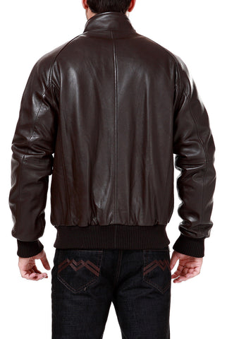 Landing Leathers Men's WWII New Zealand Lambskin Leather Bomber Jacket