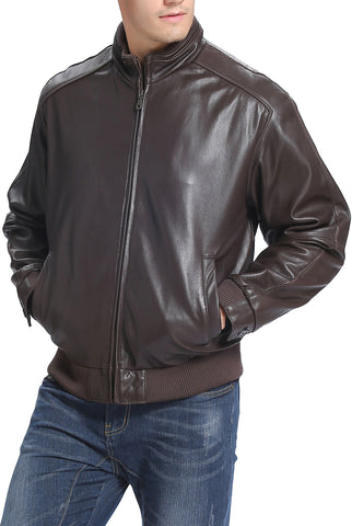 bgsd mens lambskin leather bomber jacket 1