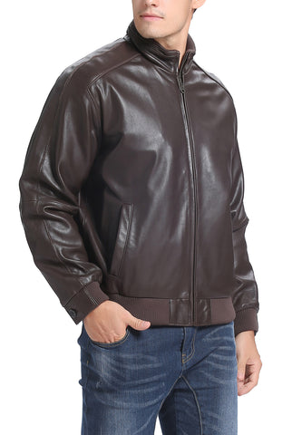 bgsd mens lambskin leather bomber jacket big 1