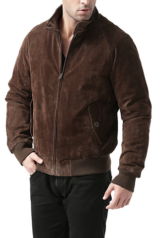 Landing Leathers Men's WWII Suede Leather Bomber Jacket