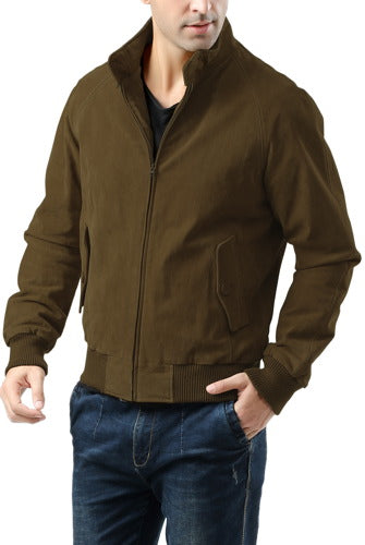 Landing Leathers Men's WWII Suede Leather Bomber Jacket - Big